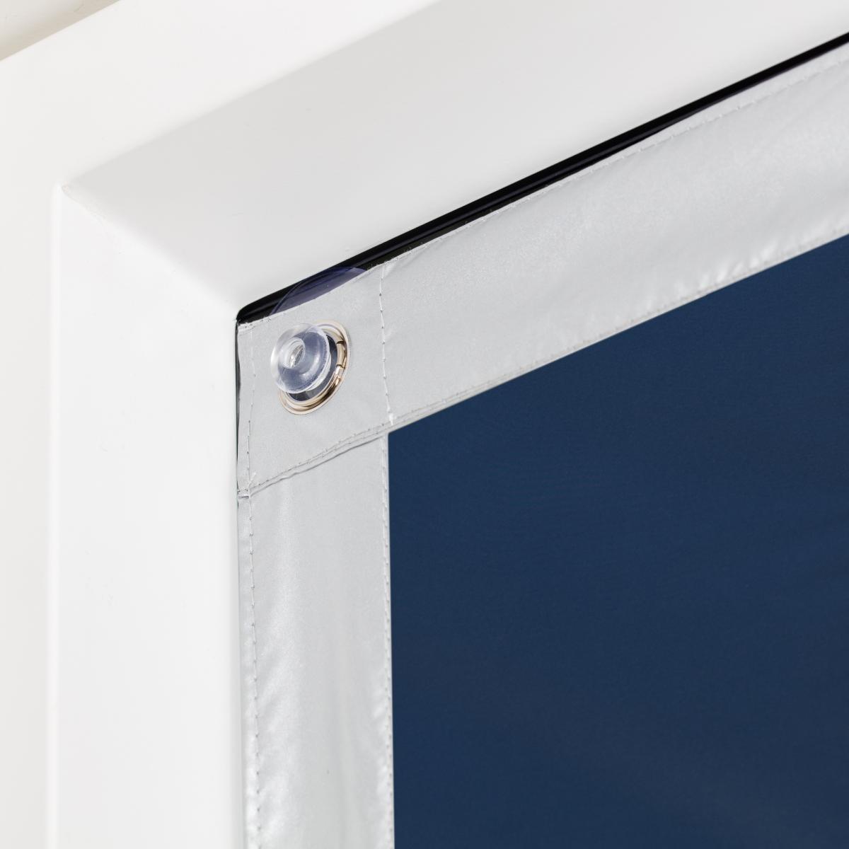 Bild 3 von Lichtblick Dachfenster Sonnenschutz Haftfix, ohne Bohren, Verdunkelung, Blau, 36 cm x 71,5 cm (B x L