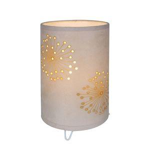 EEK A++, Tischleuchte Dandelion - Stoff - Beige - 1-flammig, Näve