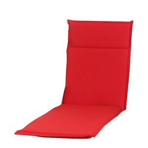 Auflage für Gartenliege Esdo II - Webstoff - Rot, Sun Garden