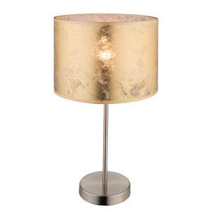 EEK A++, Tischleuchte Amy I - Webstoff / Metall - 1-flammig - Gold / Nickel, Globo Lighting