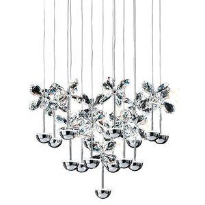 EEK A+, LED-Pendelleuchte Pianopoli - Kristallglas / Edelstahl - 50, Eglo