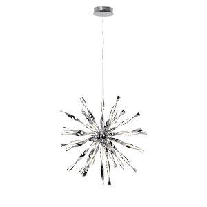 EEK A+, LED-Pendelleuchte Inaya - Kunststoff / Metall - 1-flammig, Brilliant