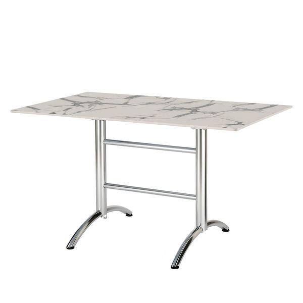 Gartentisch Firenze I Aluminium Marmor Weiss Dekor Best