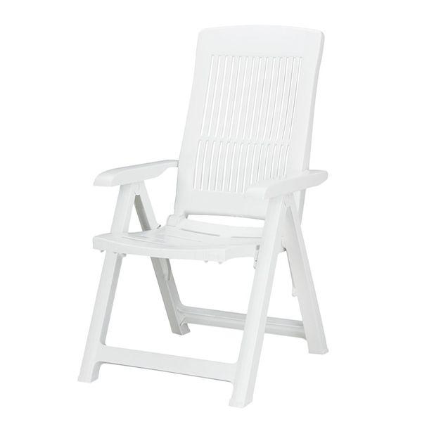 Fabulous Gartenstuhl Santiago (klappbar) - Kunststoff Weiß, Best HR52