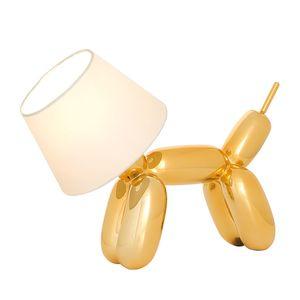 EEK A++, Tischleuchte Doggy - Gold/Weiß - 1-flammig, Sompex