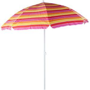 Sonnenschirm - aus Polyester - Ø = 180 cm - bunt