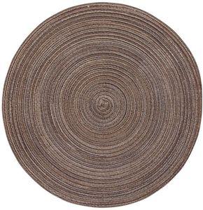 Platzset - aus Polyester - Ø = 38 cm - in braun