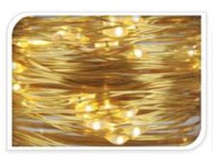 20er LED-Lichterdraht - warmweiß - 1 m - verschiedene Farben