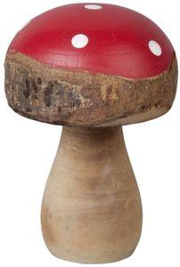 Fliegenpilz - aus Holz - 13,5 cm - in rot/braun