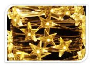20er LED-Lichterdraht mit Sternen - warmweiß - 1 m