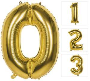 Folienballon - Goldene Zahl - 0 bis 9