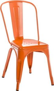 stapelbarer Metall Stuhl BENEDIKT, Sitzhöhe 48 cm, klassich & robust