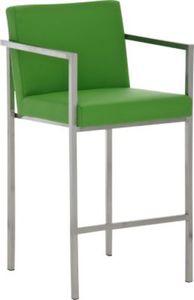 Edelstahl Barhocker mit Armlehne ATLANTIC, Sitzhöhe 68 cm, Sitzkomfort neu erleben
