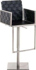 CLP Design-Barhocker MOSKAU mit Edelstahlgestell und pflegeleichtem Kunststoffsitz Höhenverstellbarer Barstuhl mit Armlehnen und Fußstütze In verschiedenen Farben erhältlich