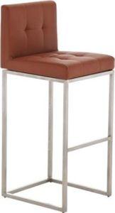 Edelstahl Barhocker EDINBURGH mit 4 Beinen, Sitzhöhe 77 cm, Polsterstärke 7 cm, einfach bequem sitzen, bis zu 11 Farben wählbar