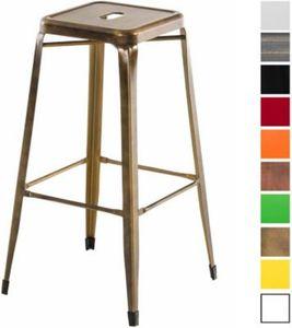 CLP Metall Barhocker MARTEN Stapelbarer Thekenhocker mit Fußstütze und einer Sitzhöhe von 77 cm In verschiedenen Farben erhältlich