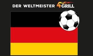 Thermo Sticker für BBQ-Grill 4 in 1 - mit Deutschland Flagge BATAVIA