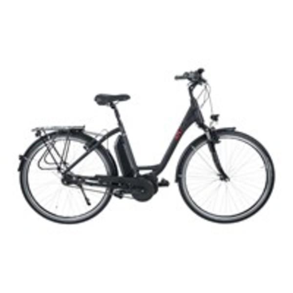 ATURA E-Bike Bosch Urban, 28 Zoll Pedelec, elektrisch unterstütztes Cityrad in Schwarz matt, bis zu 80 km Reichweite