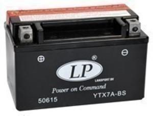 Landport YTX7A-BS AGM Motorrad Batterie, 12 V 6 AH