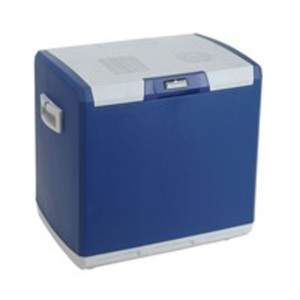 Norauto Kühlbox, elektrisch mit 12 V DC, ca. 28 Liter Fassungsvermögen, in Blau/Weiß