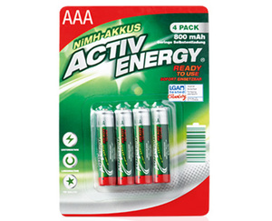 ACTIV ENERGY®  NiMH-Akkus, Ready to use