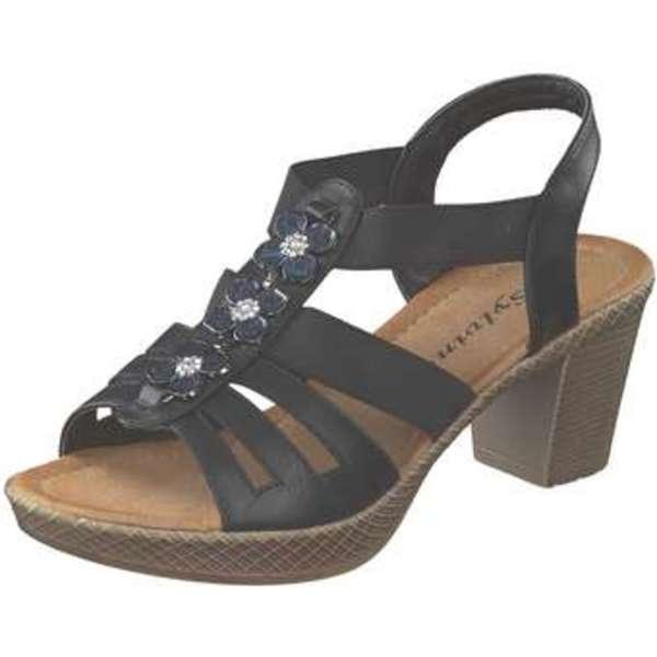 350a7494e3fb Sylvine Sandale Damen schwarz von Siemes ansehen! » DISCOUNTO.de