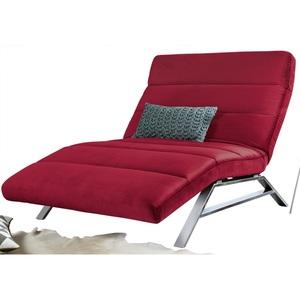 Ole Gunderson Relaxliege Stoffbezug Rot ca. 120 x 46-110 x 158-198 cm