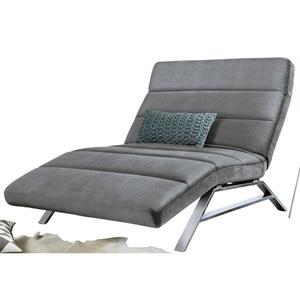 Ole Gunderson Relaxliege Stoffbezug Steel ca. 120 x 46-110 x 158-198 cm