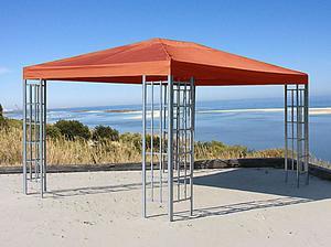 Grasekamp Aluoptik Pavillon 3x4m Terra mit 4  Seitenteile