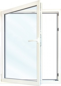 Meeth Fenster Weiß 500 x 1350 mm DL ,  System 70/3S Euronorm, 1-flg Dreh-Kipp