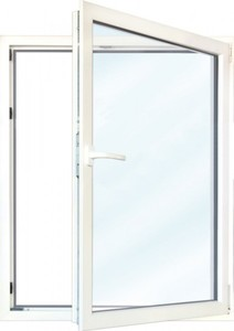 Meeth Fenster Weiß 750 x 1350 mm DR ,  System 70/3S Euronorm, 1-flg Dreh-Kipp