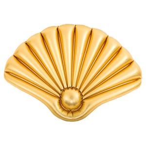 Badeinsel Muschel gold