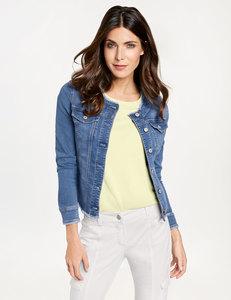 Jeansjacke mit offenen Kanten