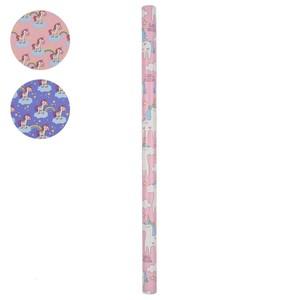 Einhorn-Geschenkpapier 200 x 70 cm Regenbogen lila