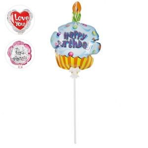 Selbstaufblasender Luftballon Birthday Princess