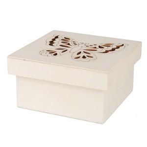 Mini-Holzbox Schmetterling