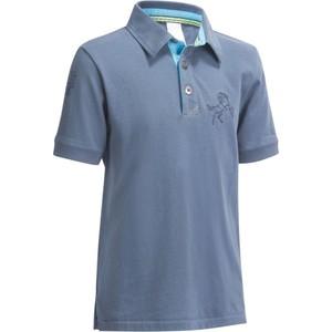 FOUGANZA Poloshirt Kurzarm PL140 Boy Kinder blaugrau, Größe: 6 J. - Gr. 116