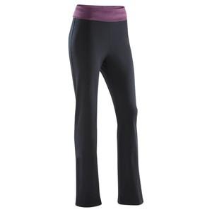 DOMYOS Jogginghose Yoga Damen schwarz/bordeaux meliert, Größe: 3XL / W45 L31