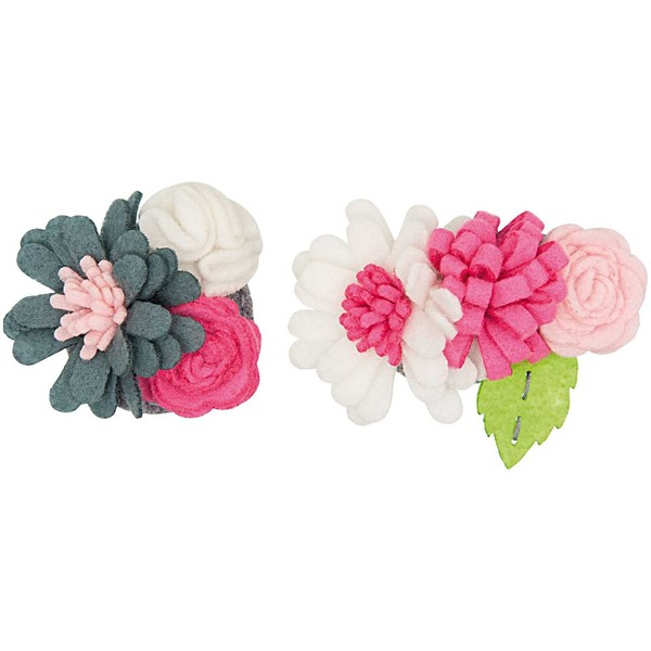 Rico Design Bastelpackung Blütenbouquets pink-weiß klein