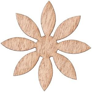 Rico Design Holzfurnier Blüte spitz selbstklebend 5,5x5,5cm