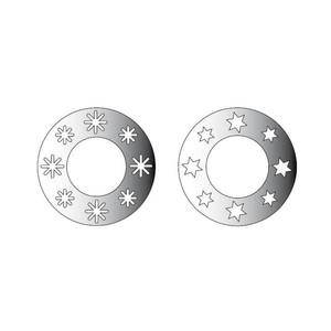 Rico Design Spiegel-Anhänger Sternenkränze silber 7cm