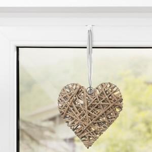 Lichtblick Fensterhaken für Dekoration, Klemmfix, ohne Bohren, 10 Stück, Weiß, 2,0 cm x 3 cm (B x L)