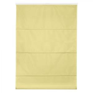 Lichtblick Raffrollo Klemmfix TOP, ohne Bohren, verspannt Gelb, 110 cm x 130 cm (B x L)