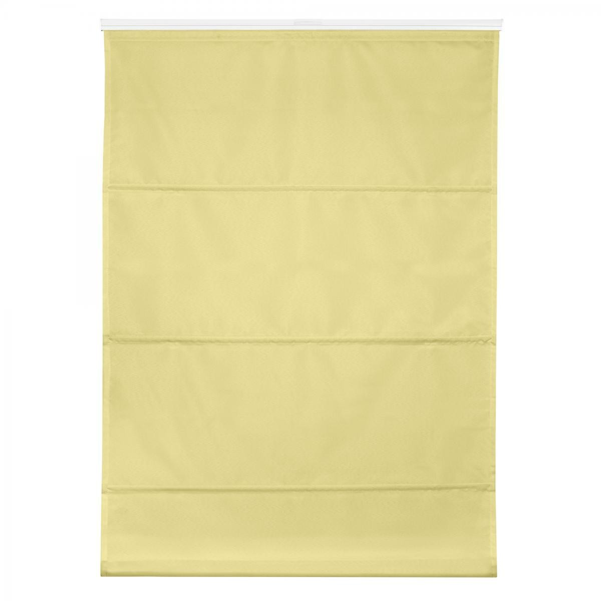 Bild 1 von Lichtblick Raffrollo Klemmfix TOP, ohne Bohren, verspannt Gelb, 110 cm x 130 cm (B x L)