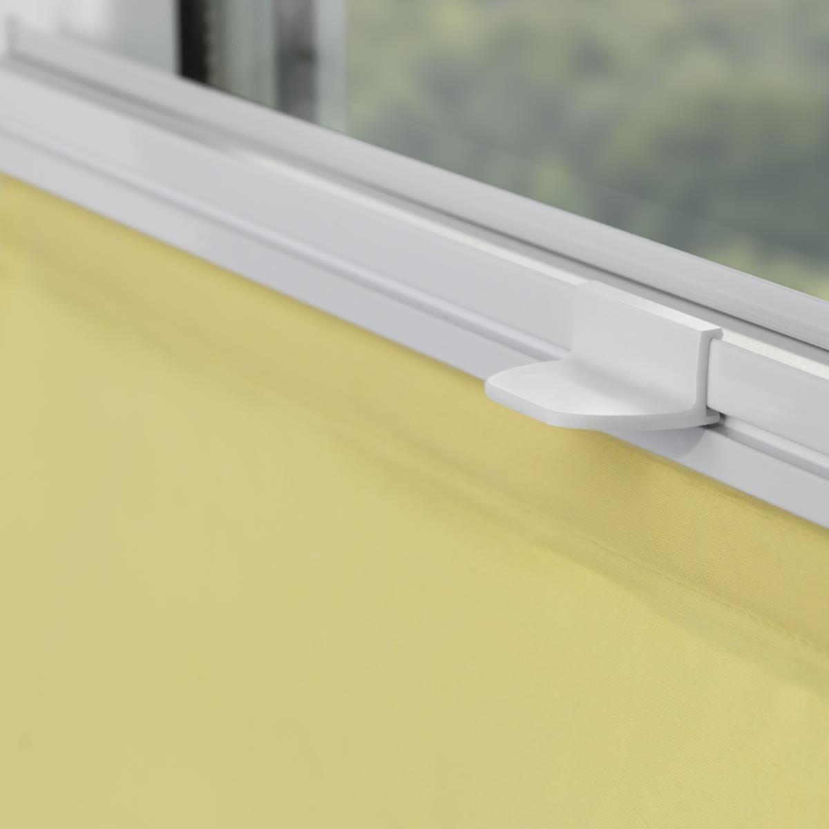 Bild 3 von Lichtblick Raffrollo Klemmfix TOP, ohne Bohren, verspannt Gelb, 110 cm x 130 cm (B x L)