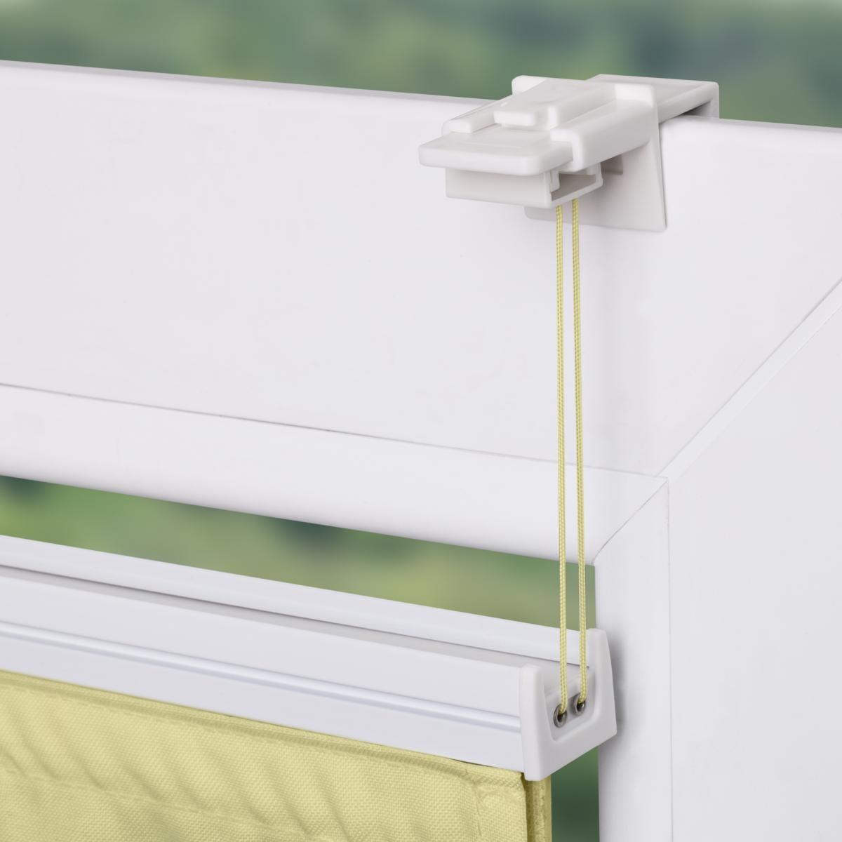 Bild 4 von Lichtblick Raffrollo Klemmfix TOP, ohne Bohren, verspannt Gelb, 110 cm x 130 cm (B x L)