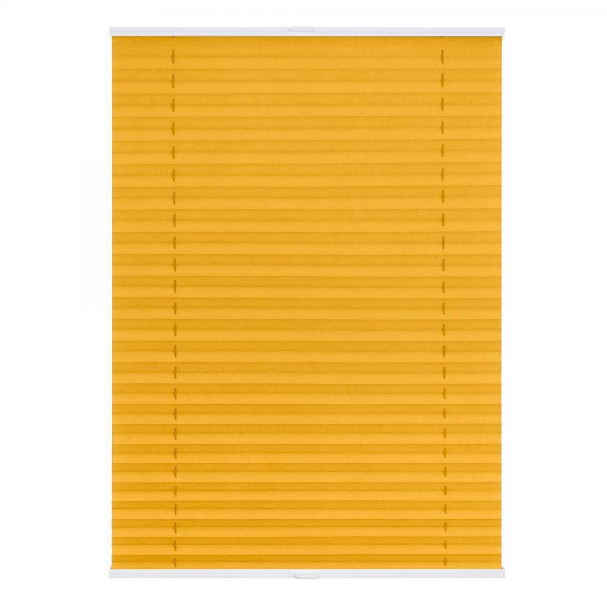 Bild 1 von Lichtblick Plissee Klemmfix TOP, ohne Bohren, verspannt Gelb, 100 cm x 130 cm (B x L)