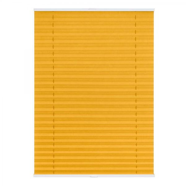 Lichtblick Plissee Klemmfix TOP, ohne Bohren, verspannt Gelb, 100 cm x 130 cm (B x L)