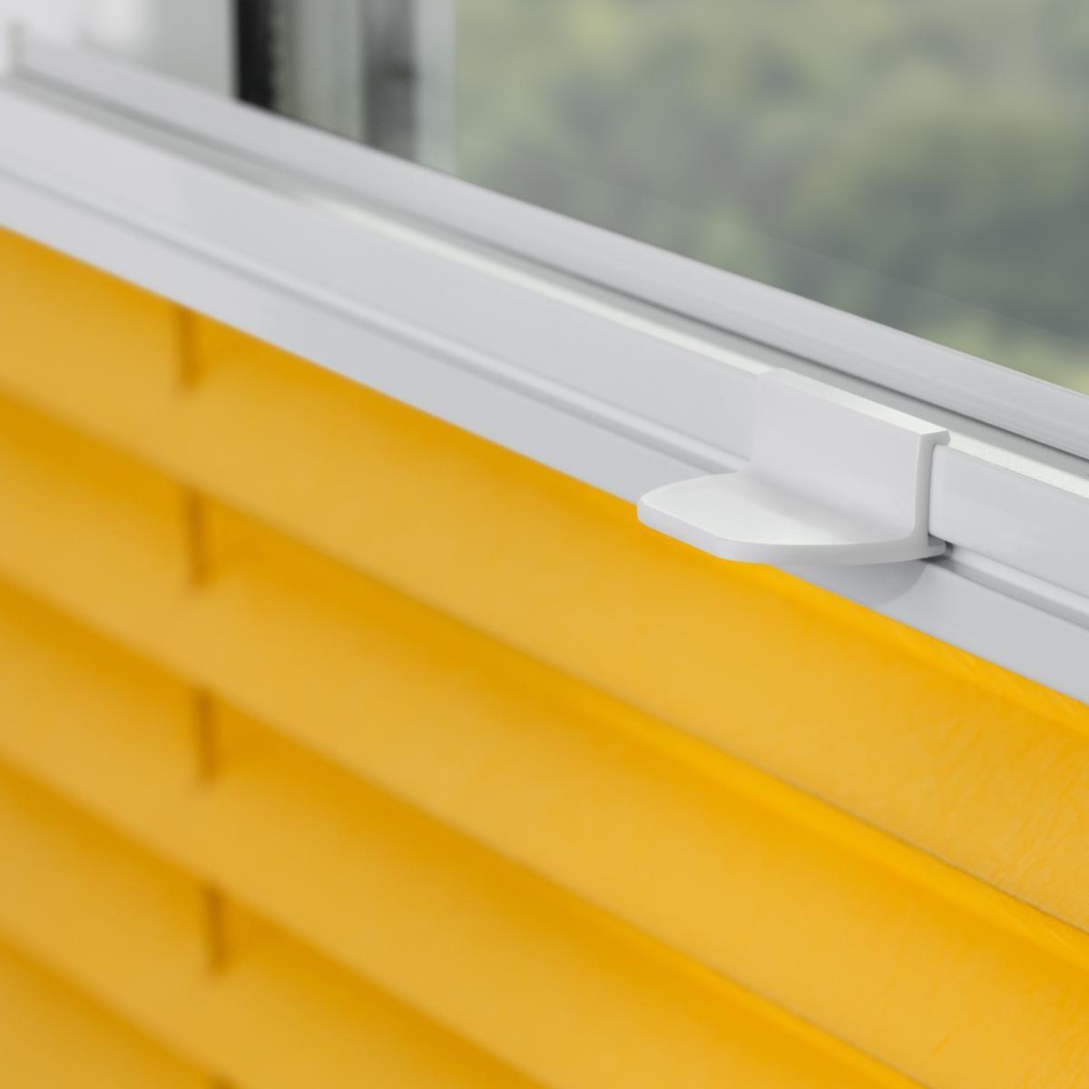 Bild 3 von Lichtblick Plissee Klemmfix TOP, ohne Bohren, verspannt Gelb, 100 cm x 130 cm (B x L)
