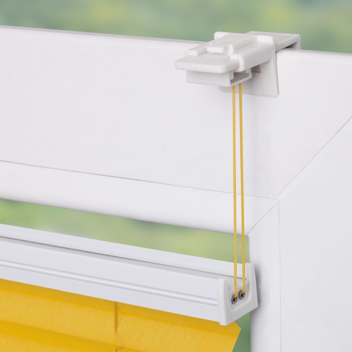 Bild 4 von Lichtblick Plissee Klemmfix TOP, ohne Bohren, verspannt Gelb, 100 cm x 130 cm (B x L)